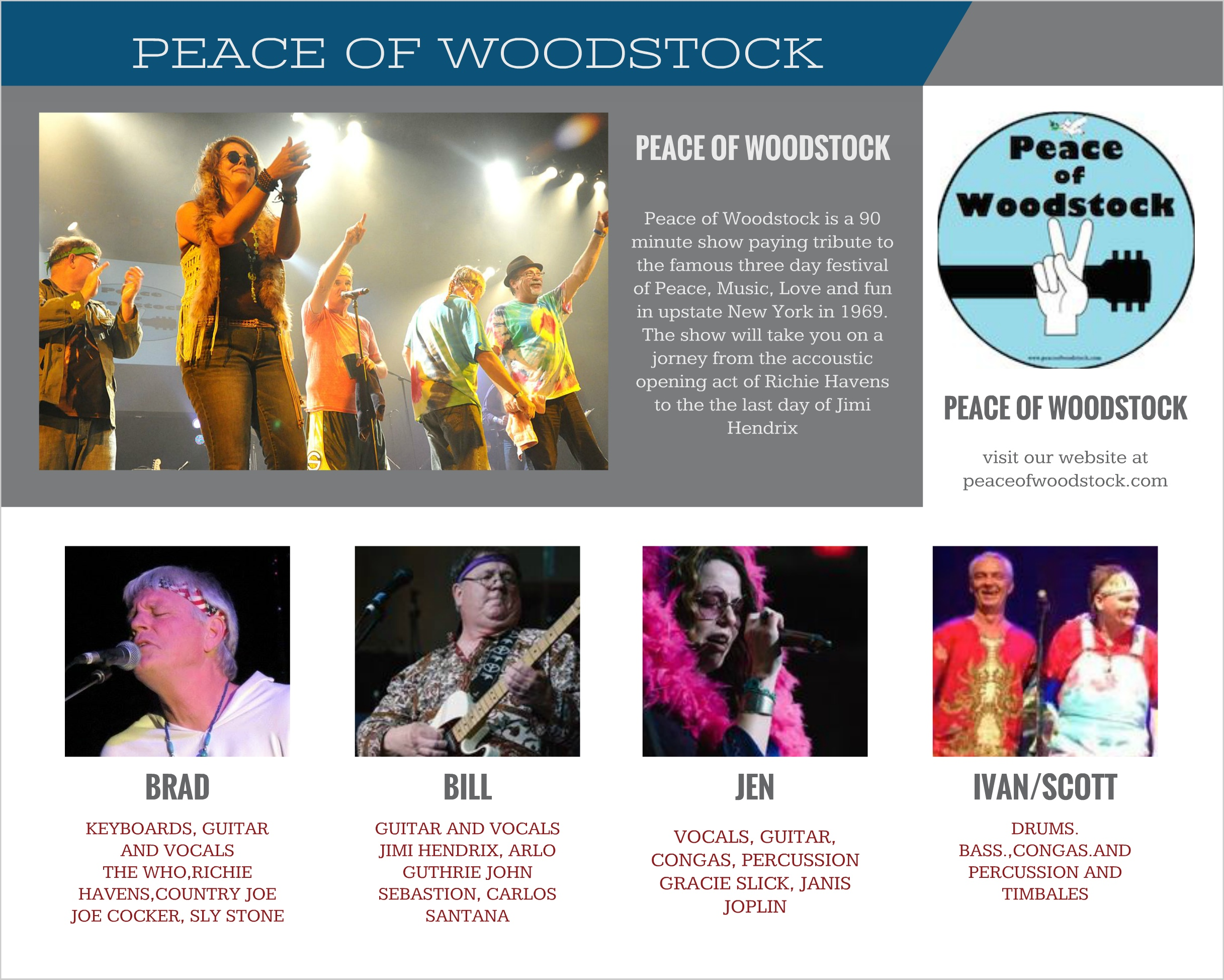 woodstock tribute band